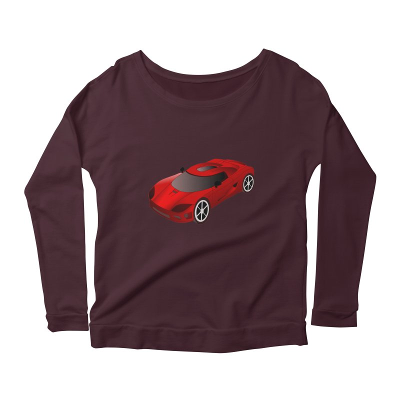 VOITURE-2 Women's Longsleeve Scoopneck  by THE ORANGE ZEROMAX STREET COUTURE