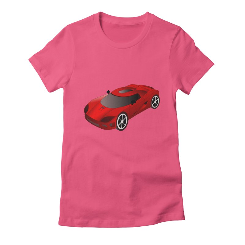 VOITURE-2 Women's Fitted T-Shirt by THE ORANGE ZEROMAX STREET COUTURE