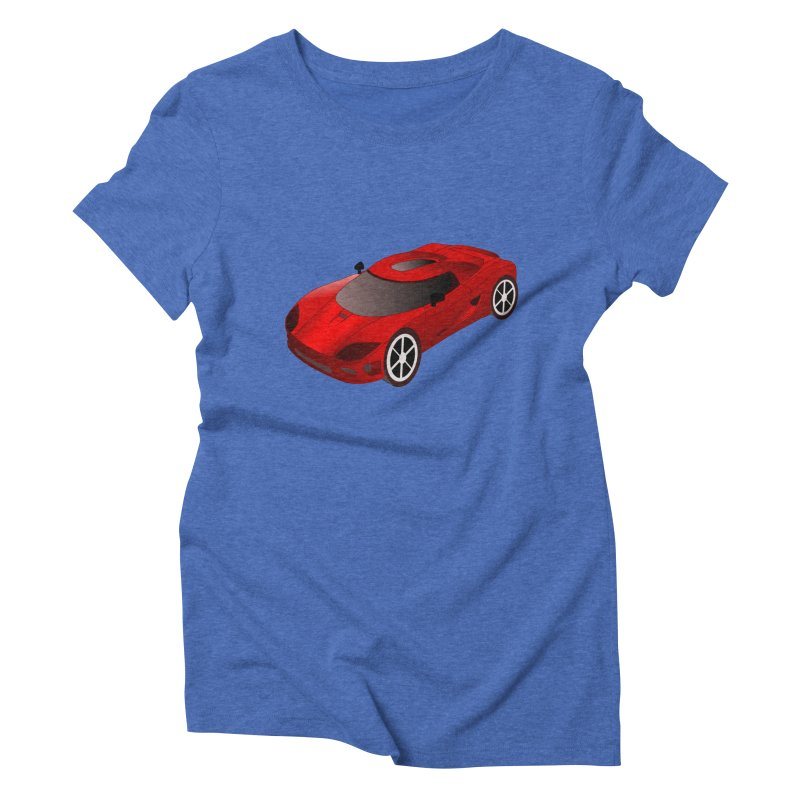 VOITURE-2 Women's Triblend T-shirt by THE ORANGE ZEROMAX STREET COUTURE