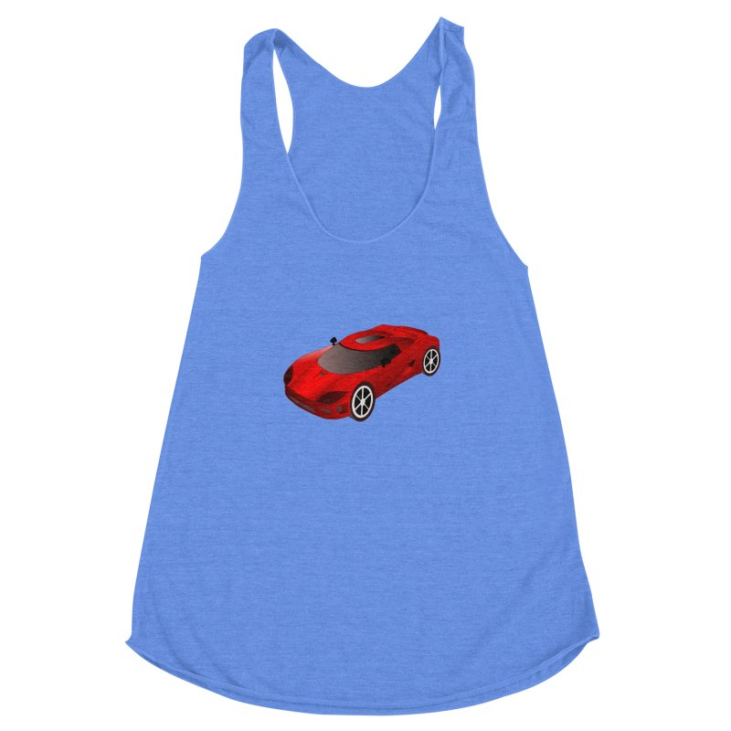 VOITURE-2 Women's Racerback Triblend Tank by THE ORANGE ZEROMAX STREET COUTURE