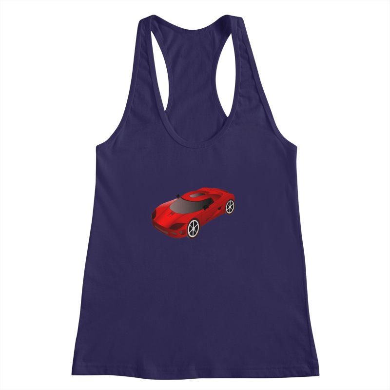 VOITURE-2 Women's Racerback Tank by THE ORANGE ZEROMAX STREET COUTURE