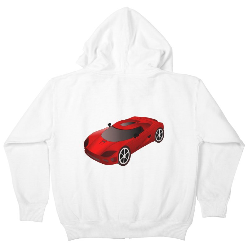 VOITURE-2 Kids Zip-Up Hoody by THE ORANGE ZEROMAX STREET COUTURE