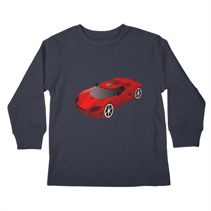 VOITURE-2 Kids Longsleeve T-Shirt by THE ORANGE ZEROMAX STREET COUTURE
