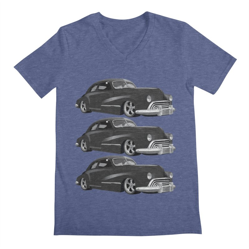 VOITURE-3 Men's V-Neck by THE ORANGE ZEROMAX STREET COUTURE