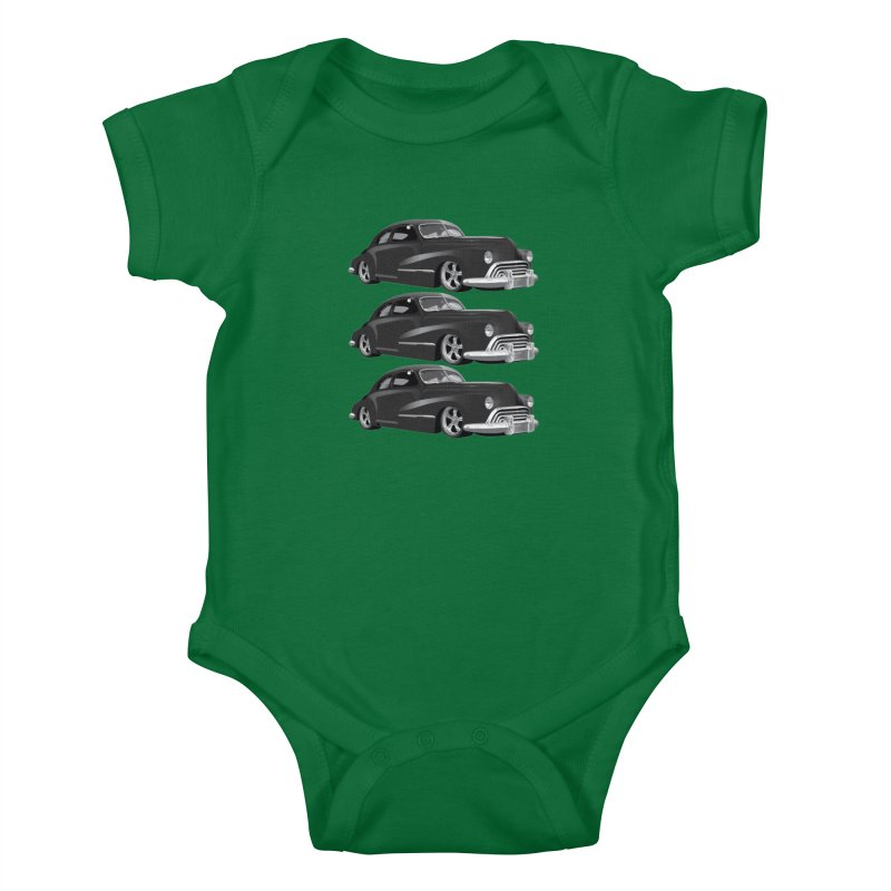 VOITURE-3 Kids Baby Bodysuit by THE ORANGE ZEROMAX STREET COUTURE