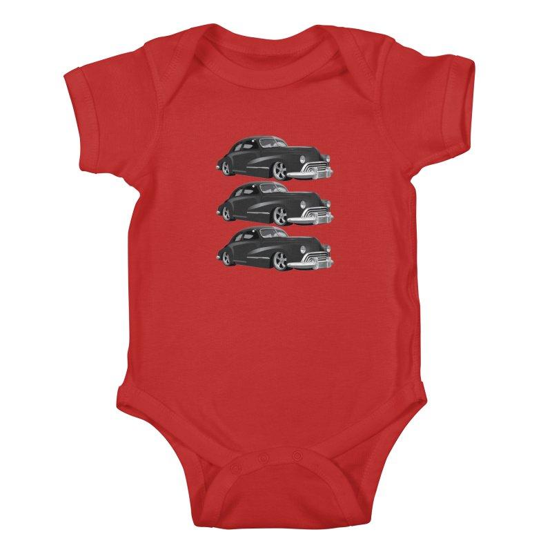 VOITURE-3 Kids Baby Bodysuit by THE ORANGE ZEROMAX STREET COUTURE