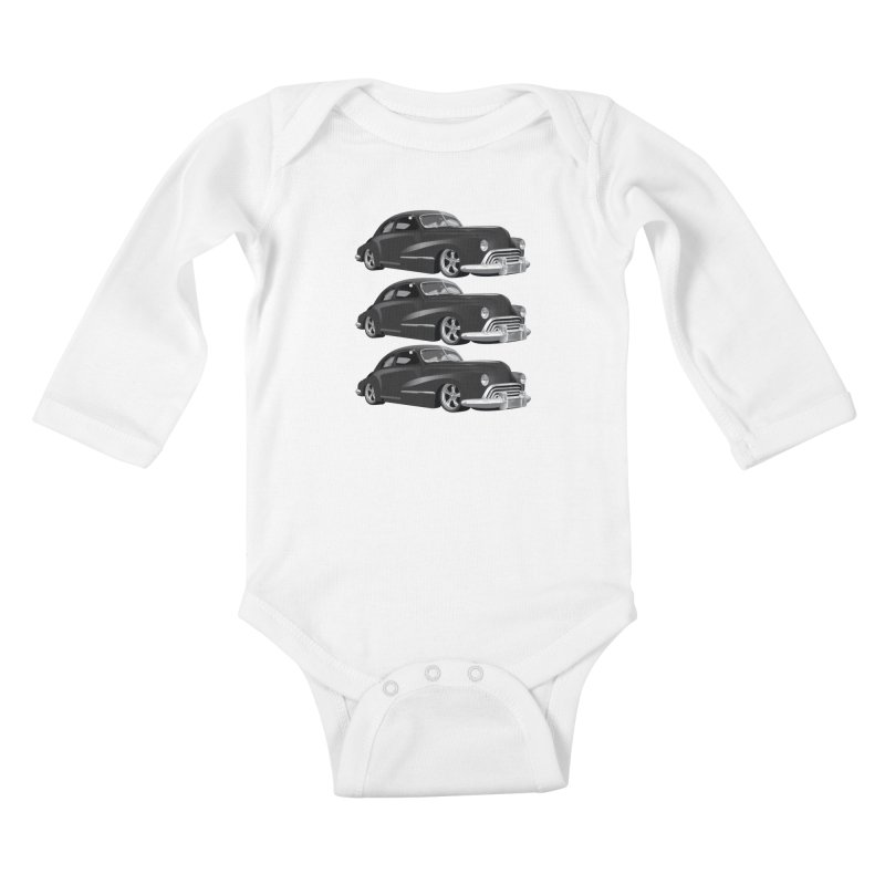 VOITURE-3 Kids Baby Longsleeve Bodysuit by THE ORANGE ZEROMAX STREET COUTURE