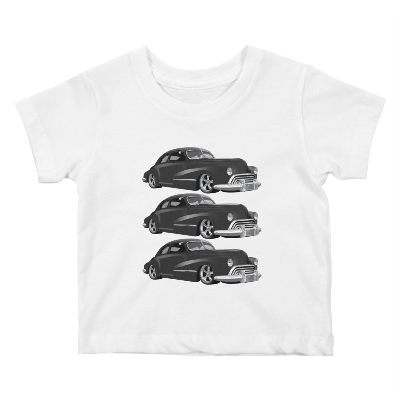 VOITURE-3 Kids Baby T-Shirt by THE ORANGE ZEROMAX STREET COUTURE