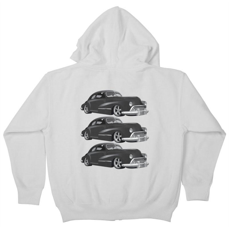 VOITURE-3 Kids Zip-Up Hoody by THE ORANGE ZEROMAX STREET COUTURE