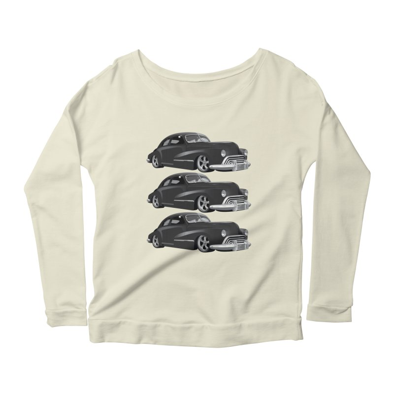VOITURE-3 Women's Longsleeve Scoopneck  by THE ORANGE ZEROMAX STREET COUTURE