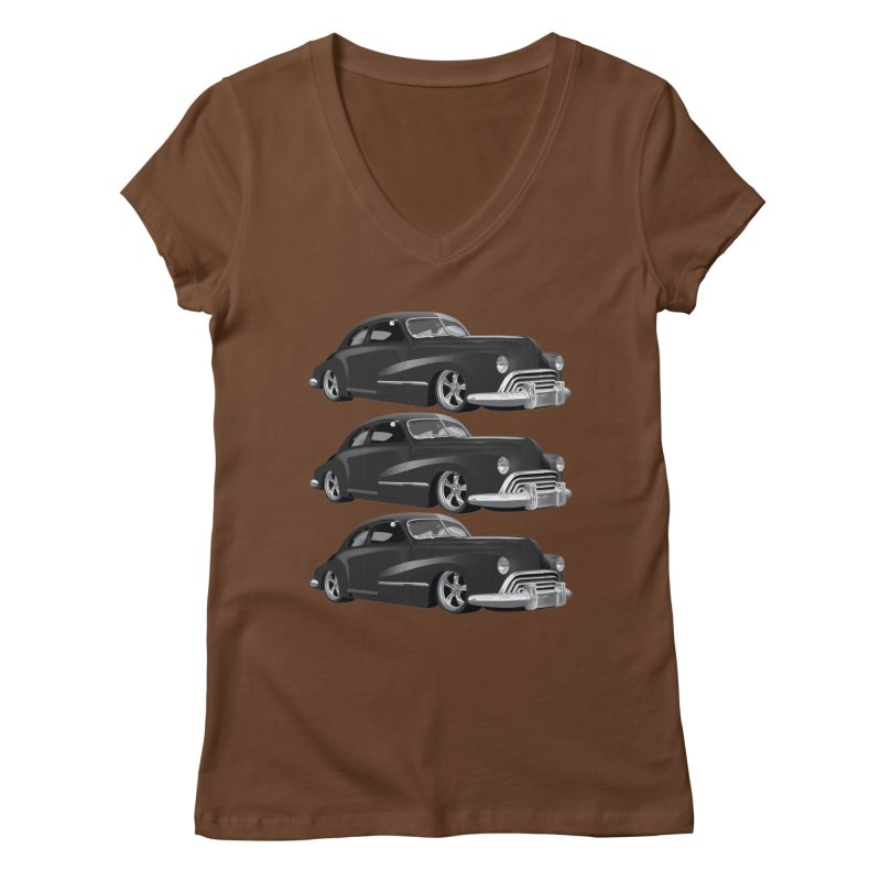 VOITURE-3 Women's V-Neck by THE ORANGE ZEROMAX STREET COUTURE