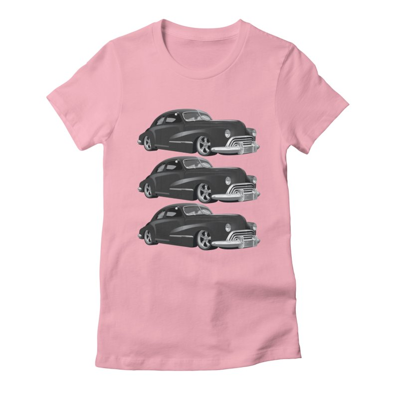 VOITURE-3 Women's Fitted T-Shirt by THE ORANGE ZEROMAX STREET COUTURE