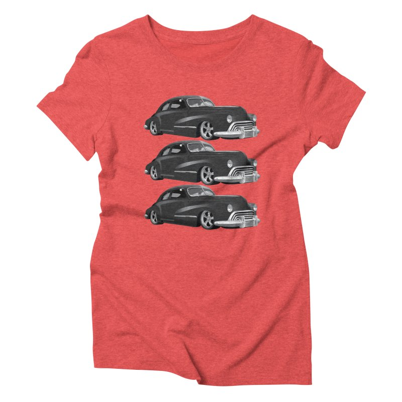 VOITURE-3 Women's Triblend T-shirt by THE ORANGE ZEROMAX STREET COUTURE