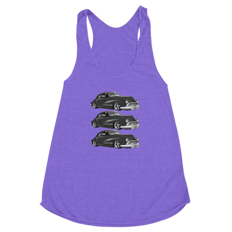 VOITURE-3 Women's Racerback Triblend Tank by THE ORANGE ZEROMAX STREET COUTURE