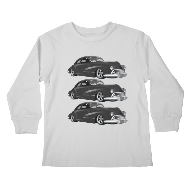 VOITURE-3 Kids Longsleeve T-Shirt by THE ORANGE ZEROMAX STREET COUTURE
