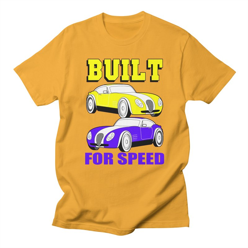VOITURE-4 in Men's Regular T-Shirt Gold by THE ORANGE ZEROMAX STREET COUTURE