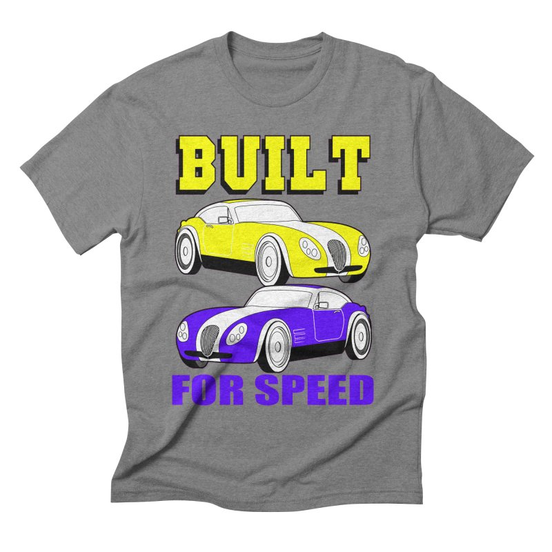 VOITURE-4 Men's Triblend T-shirt by THE ORANGE ZEROMAX STREET COUTURE