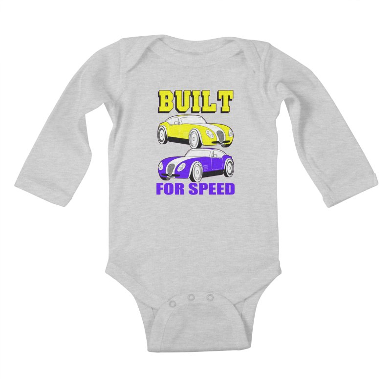 VOITURE-4 Kids Baby Longsleeve Bodysuit by THE ORANGE ZEROMAX STREET COUTURE