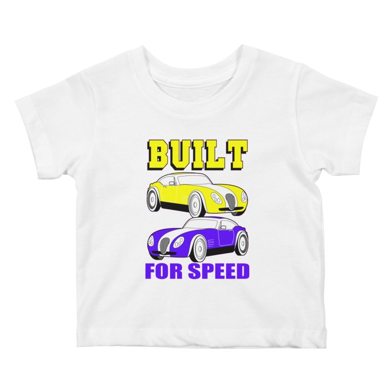 VOITURE-4 Kids Baby T-Shirt by THE ORANGE ZEROMAX STREET COUTURE