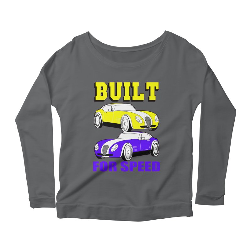 VOITURE-4 Women's Longsleeve Scoopneck  by THE ORANGE ZEROMAX STREET COUTURE