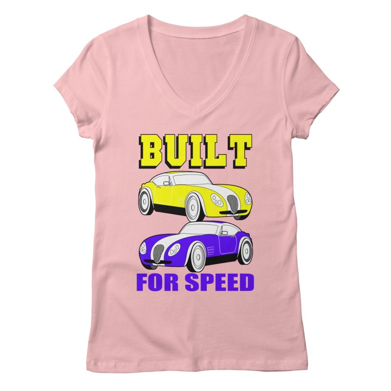 VOITURE-4 Women's V-Neck by THE ORANGE ZEROMAX STREET COUTURE