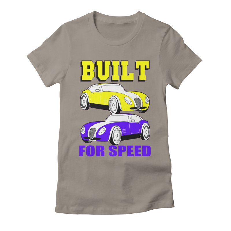 VOITURE-4 Women's Fitted T-Shirt by THE ORANGE ZEROMAX STREET COUTURE