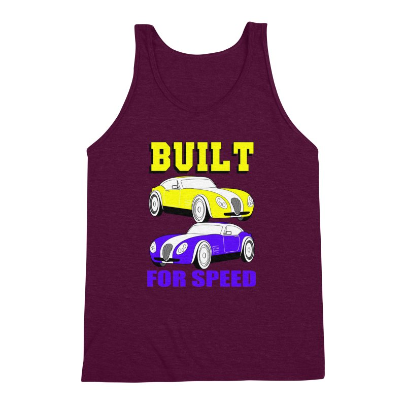 VOITURE-4 Men's Triblend Tank by THE ORANGE ZEROMAX STREET COUTURE