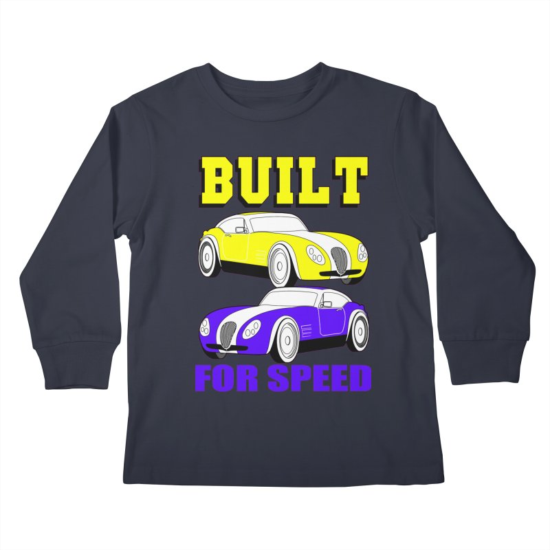 VOITURE-4 Kids Longsleeve T-Shirt by THE ORANGE ZEROMAX STREET COUTURE