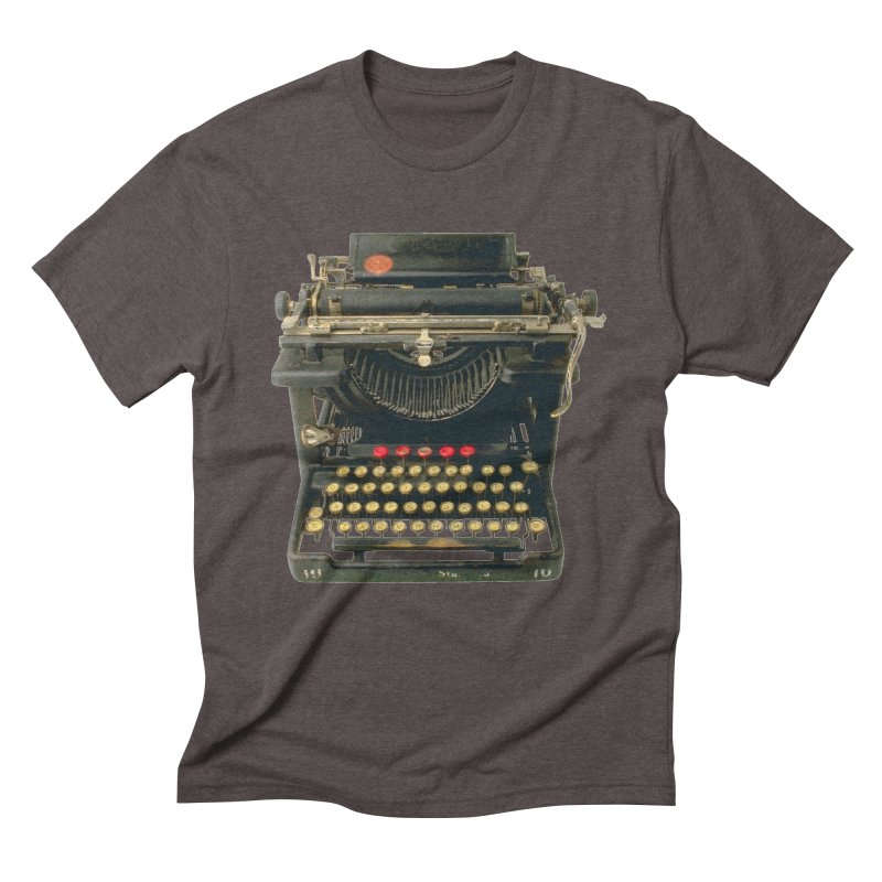 TYPEWRITER Men's Triblend T-Shirt by THE ORANGE ZEROMAX STREET COUTURE