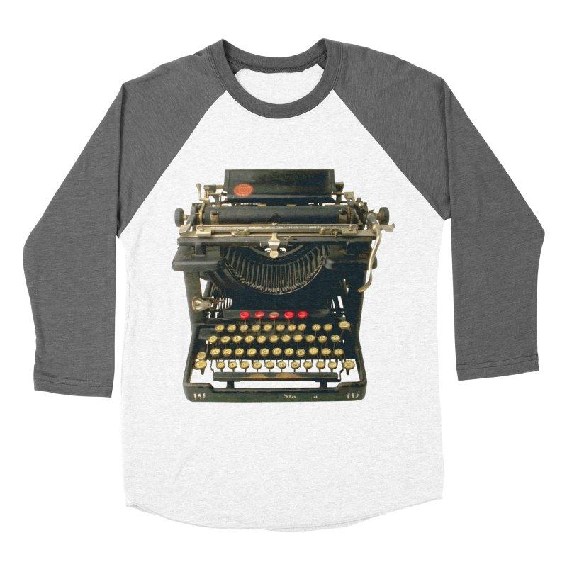 TYPEWRITER Women's Baseball Triblend T-Shirt by THE ORANGE ZEROMAX STREET COUTURE