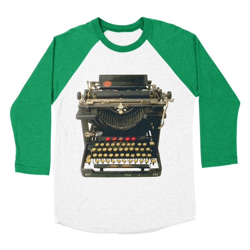TYPEWRITER Women's Baseball Triblend T-Shirt by THE ORANGE ZEROMAX STREET COUTURE