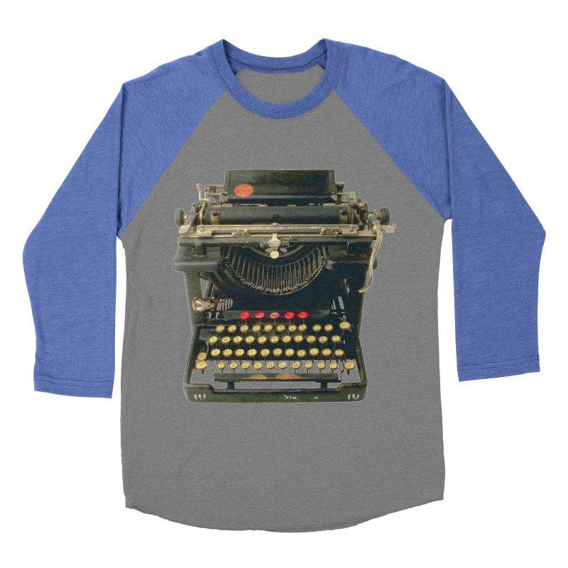 TYPEWRITER Men's Baseball Triblend T-Shirt by THE ORANGE ZEROMAX STREET COUTURE