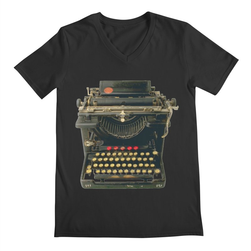 TYPEWRITER Men's V-Neck by THE ORANGE ZEROMAX STREET COUTURE
