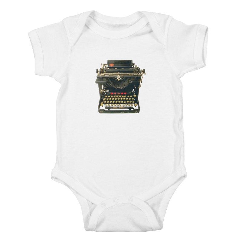 TYPEWRITER Kids Baby Bodysuit by THE ORANGE ZEROMAX STREET COUTURE