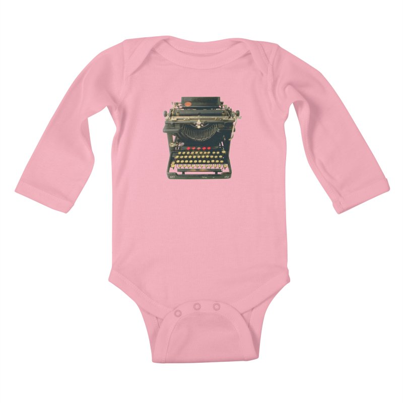 TYPEWRITER Kids Baby Longsleeve Bodysuit by THE ORANGE ZEROMAX STREET COUTURE
