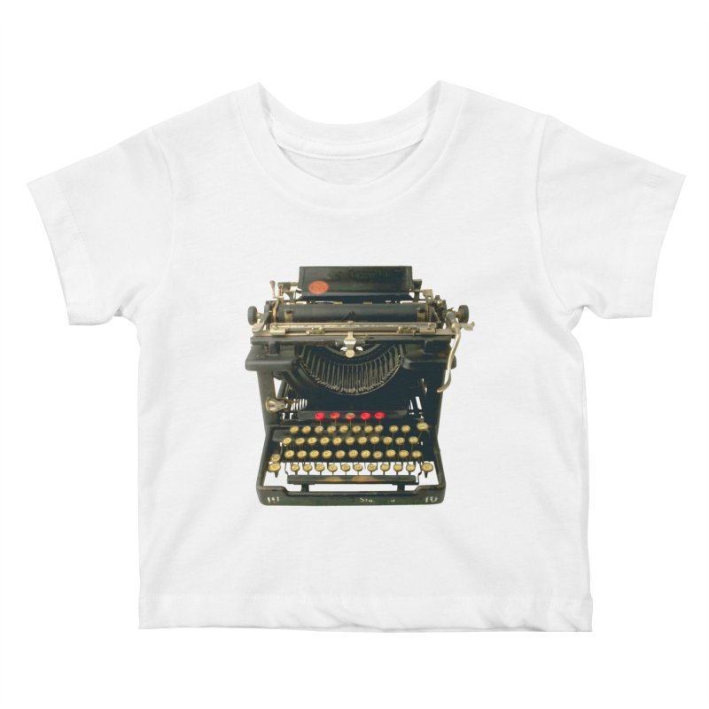 TYPEWRITER Kids Baby T-Shirt by THE ORANGE ZEROMAX STREET COUTURE