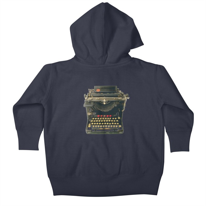 TYPEWRITER Kids Baby Zip-Up Hoody by THE ORANGE ZEROMAX STREET COUTURE