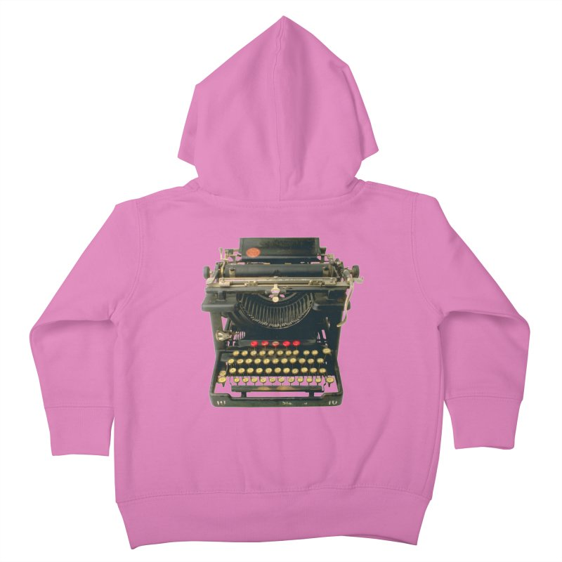 TYPEWRITER Kids Toddler Zip-Up Hoody by THE ORANGE ZEROMAX STREET COUTURE