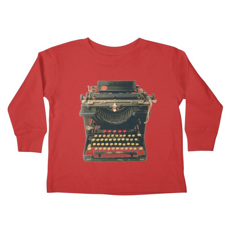 TYPEWRITER Kids Toddler Longsleeve T-Shirt by THE ORANGE ZEROMAX STREET COUTURE