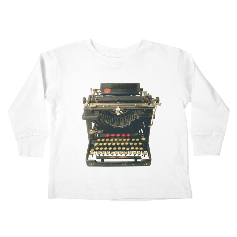 TYPEWRITER Kids Toddler Longsleeve T-Shirt by THE ORANGE ZEROMAX STREET COUTURE