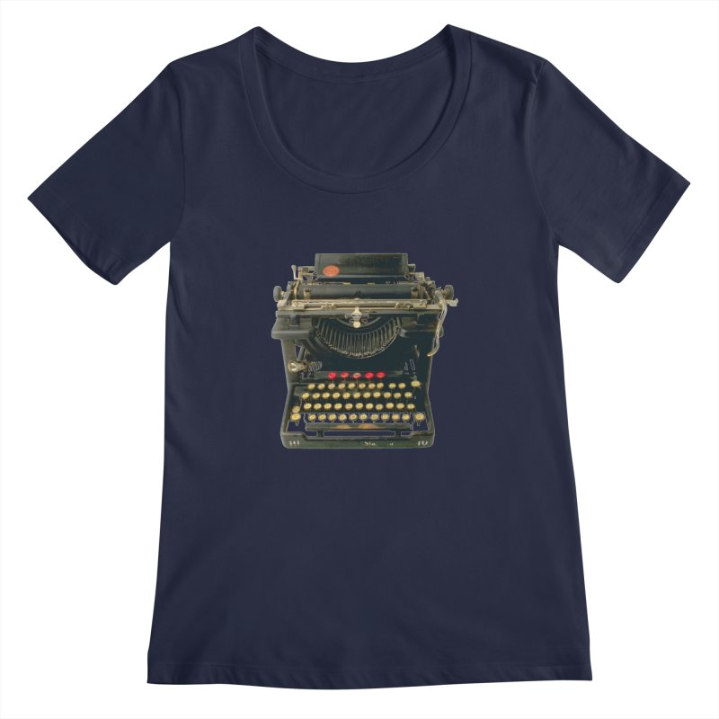 TYPEWRITER Women's Scoopneck by THE ORANGE ZEROMAX STREET COUTURE