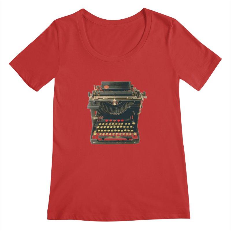 TYPEWRITER Women's Scoopneck by THE ORANGE ZEROMAX STREET COUTURE