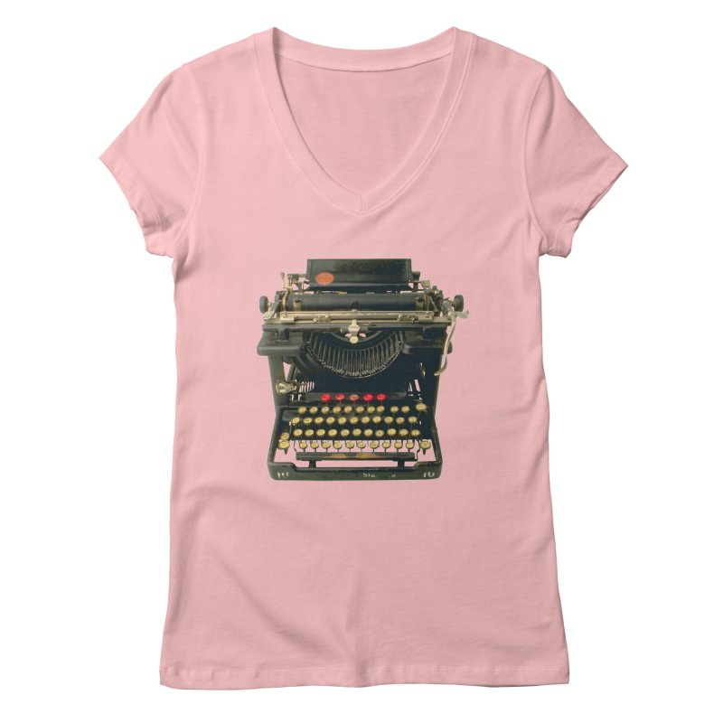 TYPEWRITER Women's V-Neck by THE ORANGE ZEROMAX STREET COUTURE