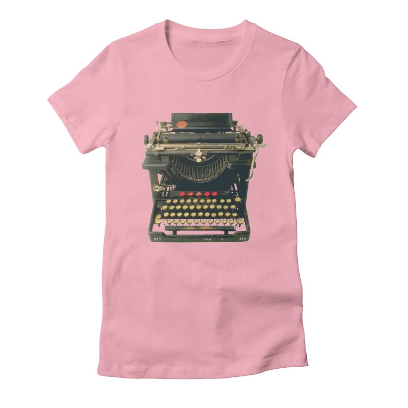 TYPEWRITER Women's Fitted T-Shirt by THE ORANGE ZEROMAX STREET COUTURE