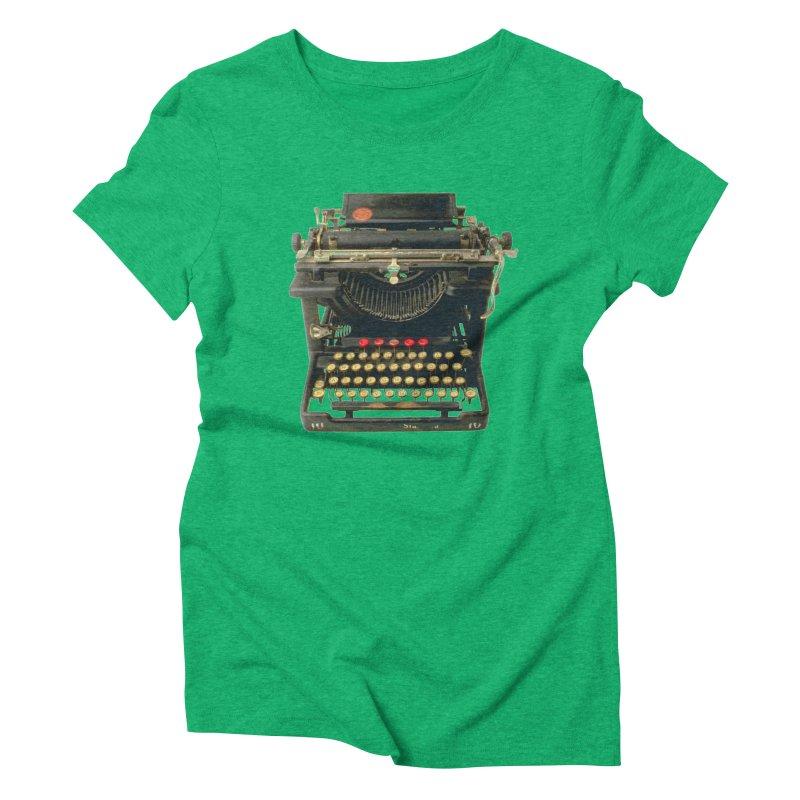 TYPEWRITER Women's Triblend T-shirt by THE ORANGE ZEROMAX STREET COUTURE