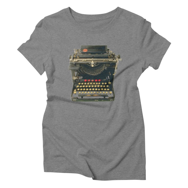 TYPEWRITER Women's Triblend T-Shirt by THE ORANGE ZEROMAX STREET COUTURE