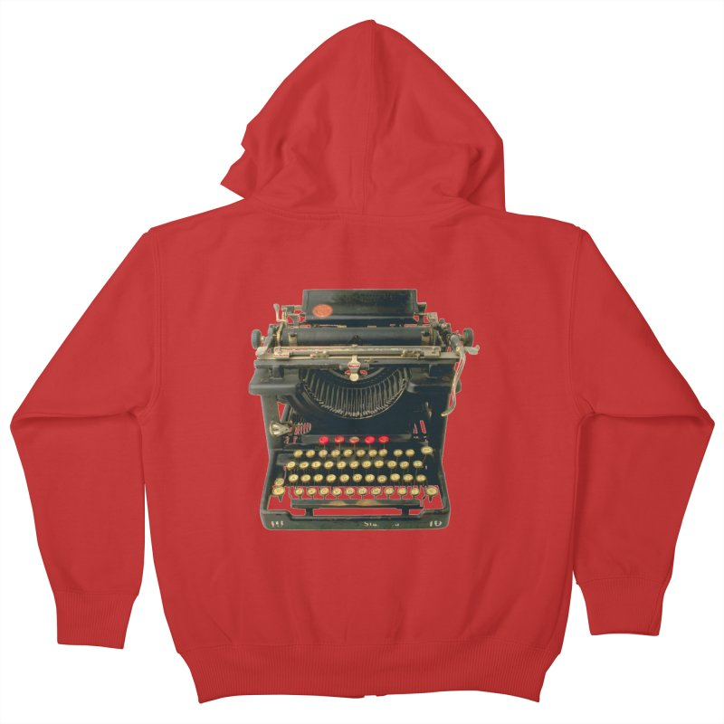 TYPEWRITER Kids Zip-Up Hoody by THE ORANGE ZEROMAX STREET COUTURE