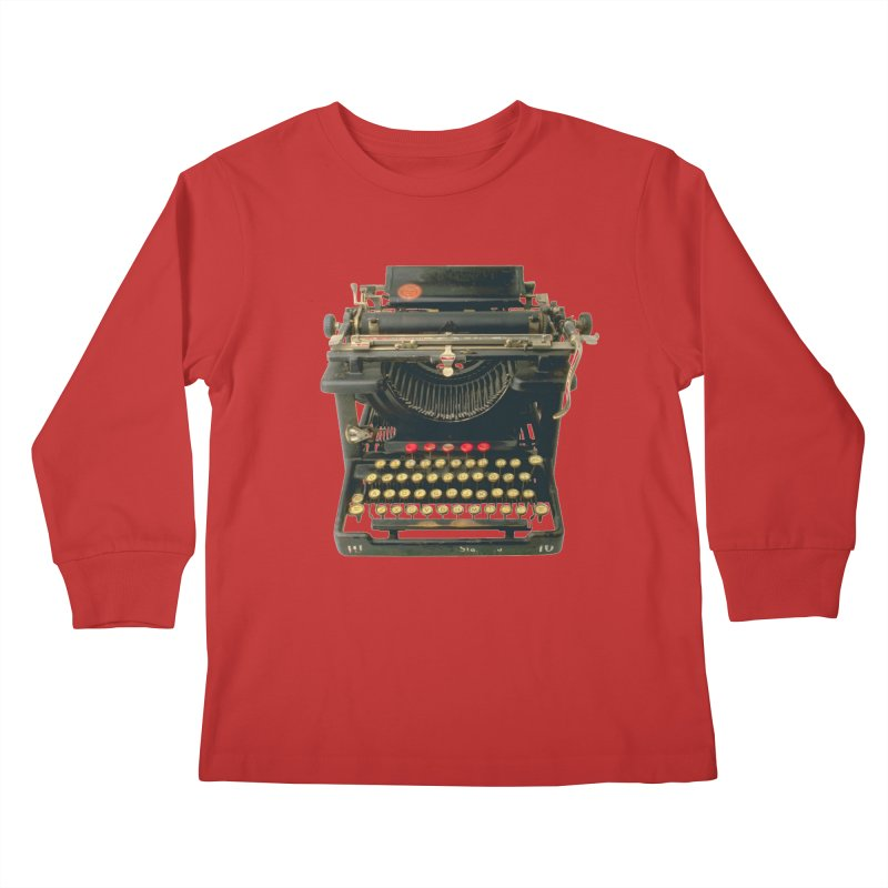 TYPEWRITER Kids Longsleeve T-Shirt by THE ORANGE ZEROMAX STREET COUTURE