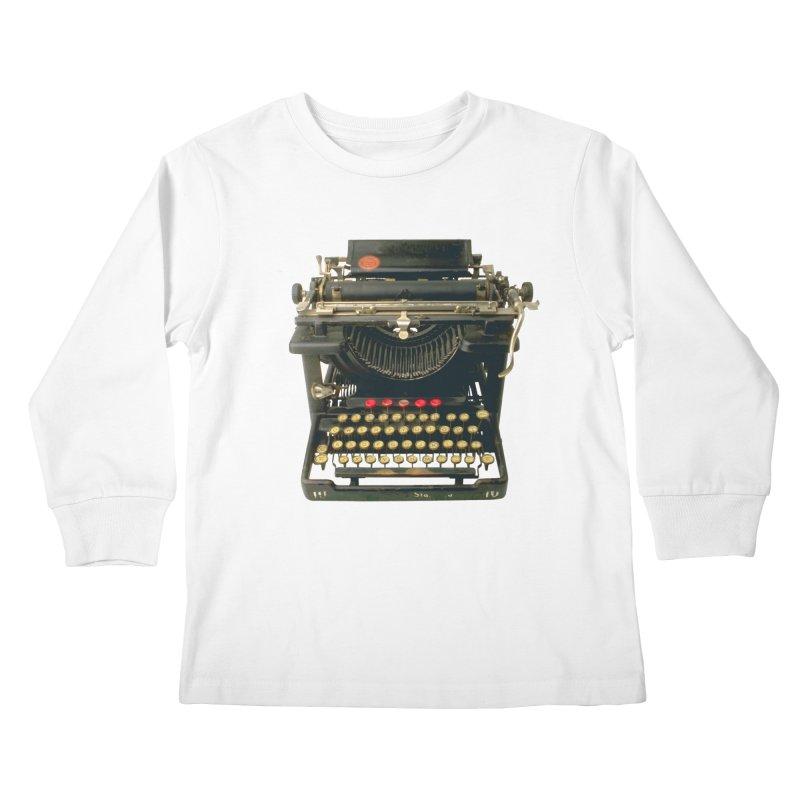 TYPEWRITER Kids Longsleeve T-Shirt by THE ORANGE ZEROMAX STREET COUTURE