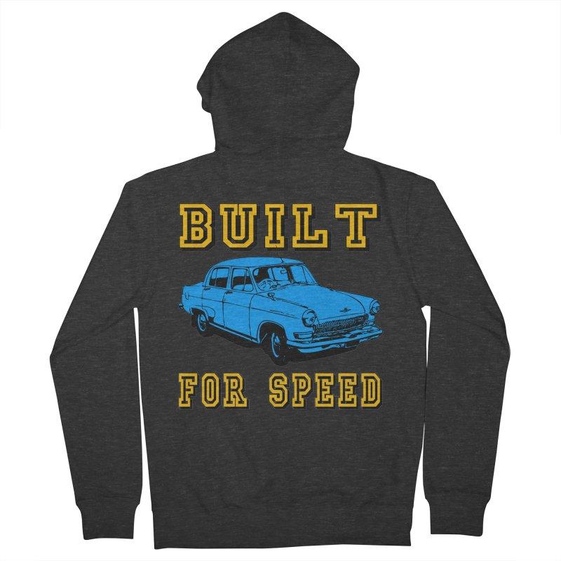 BUILT FOR SPEED-777 Men's Zip-Up Hoody by THE ORANGE ZEROMAX STREET COUTURE
